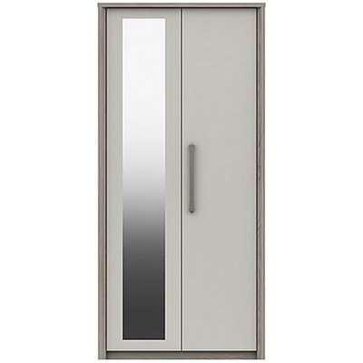 London Bedrooms - Euston 4 Door Wardrobe with Mirrors - Cream