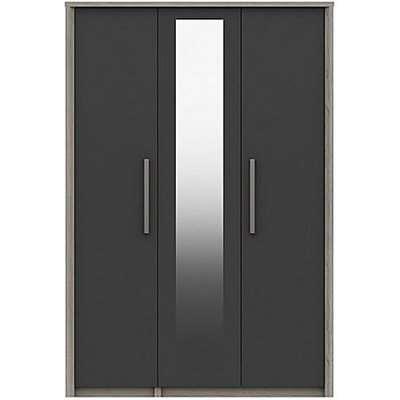 London Bedrooms - Euston 4 Door Wardrobe with Mirrors - Grey