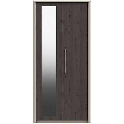 London Bedrooms - Paddington 2 Door Wardrobe with Mirror - Black