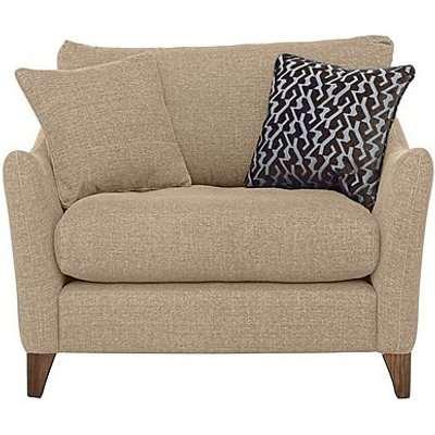 Marina Eco Fabric Snuggler Chair - Beige