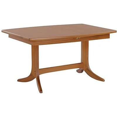Nathan - Shades Extending Boat Pedestal Shaped Dining Table - Brown
