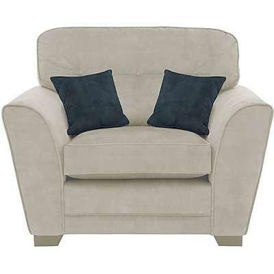 Nelly Fabric Snuggler Armchair - Cream