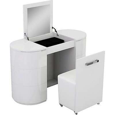 Neptuni Dressing Table Set - White