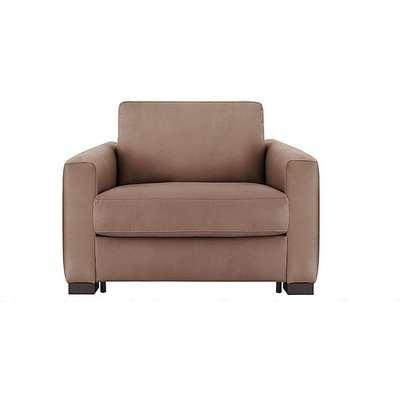 Nicoletti - Alcova Single Fabric Sofa Bed with Box Arms - Brown