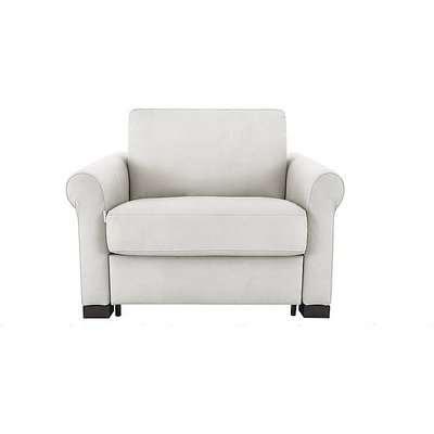Nicoletti - Alcova Single Fabric Sofa Bed with Scroll Arms - White
