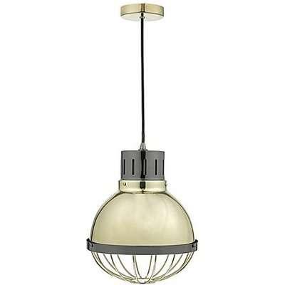 Nio 1 Light Pendant Ceiling Light - Gold