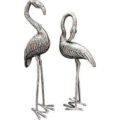 Pair of Tall Flamingo Ornaments