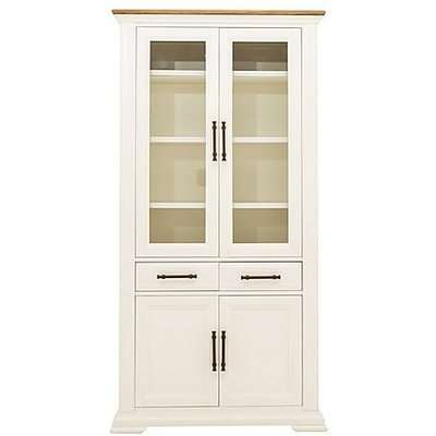 Pattern Display Cabinet - Cream