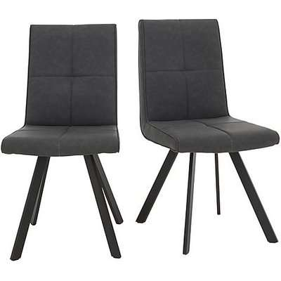 Phoenix Pair of Dining Chairs - Grey