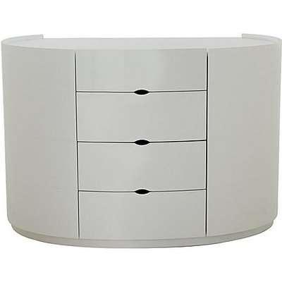 Polar 4 Drawer Dresser - White