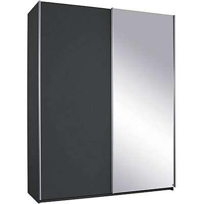 Rauch - Solo 136cm 2 Door Sliding Wardrobe - Grey