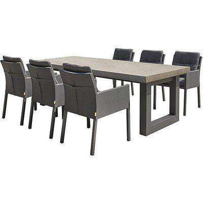 Ravello 6 Seater Garden Dining Set - Limited Stock Available! - Black