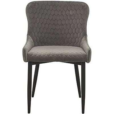 Sapporo Velvet Dining Chair - Grey
