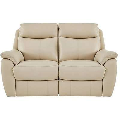 Snug 2 Seater Leather Power Recliner Sofa - Beige- World of Leather
