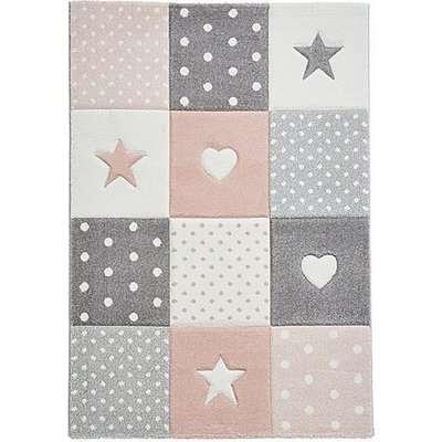 Star Children's Pink Rug - 80cm-x-150cm