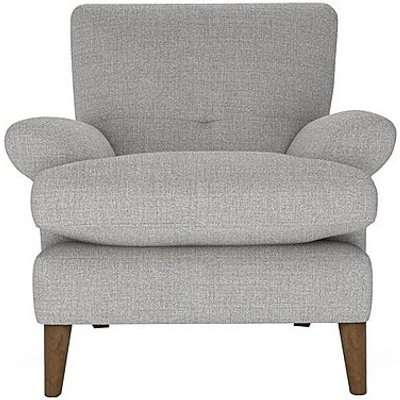 The Lounge Co. - Bronwyn Fabric Joshua Armchair - Silver