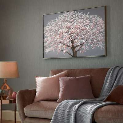 Cherry Blossoms Framed Canvas