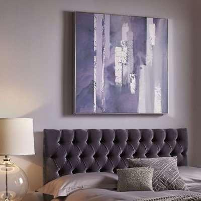 Purple Harmony Framed Canvas Wall Art