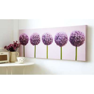 Row Of Alliums Printed Canvas Wall Art