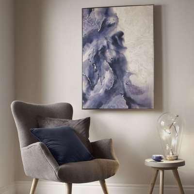 Serene Waves Framed Canvas Wall Art