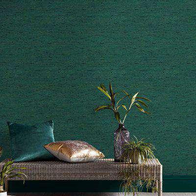 Graham & Brown Silk Texture Envy Wallpaper