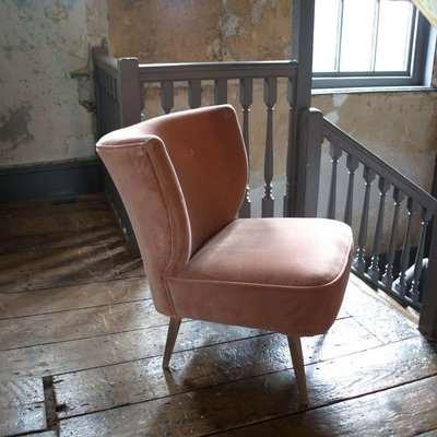 Alpana Rose Velvet Cocktail Chair