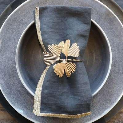 Brass Leaves Napkin Ring