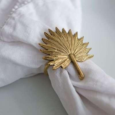 Brass Palm Leaf Napkin Ring