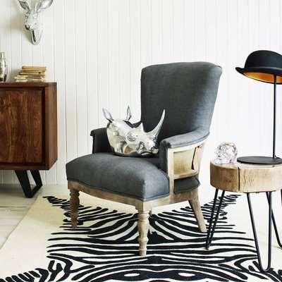 Deconstructed Grey Linen Armchair