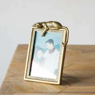 Gold Panther Photo Frame