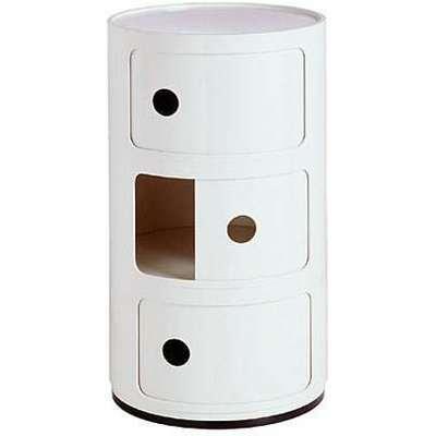 Kartell White Componibili Storage Unit