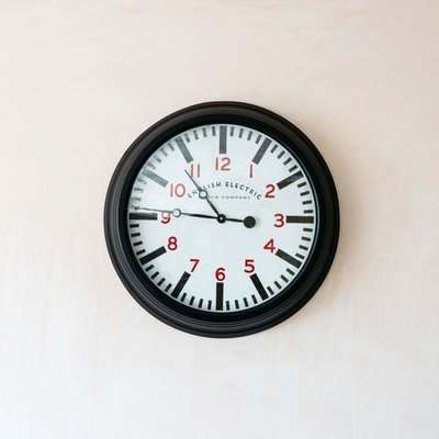 Large Black Wall Clock
