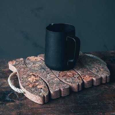 Medium Smoked Cork Fish Trivet