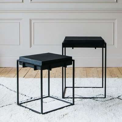 Noah Set of Two Iron Nest Tables