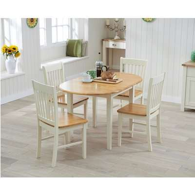 Amalfi Cream Extending Dining Table with Chairs