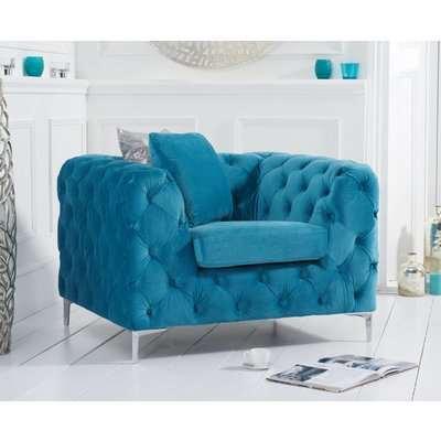 Ariel Teal Plush Armchair
