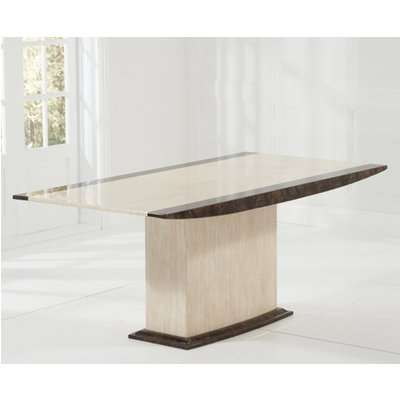 Assisi 180cm Cream Pedestal Marble Dining Table