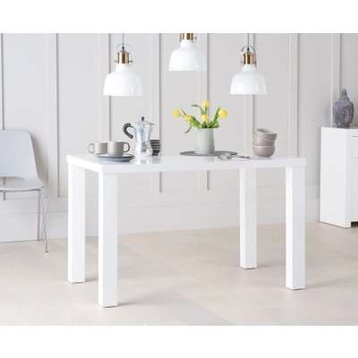 Atlanta 120cm White High Gloss Dining Table