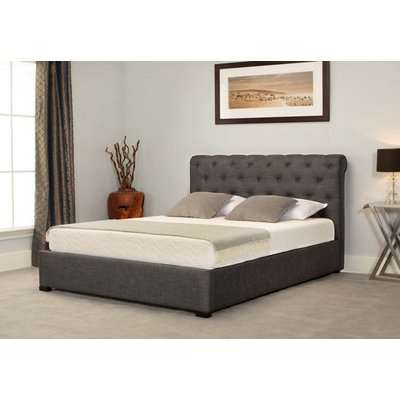 Balmoral Grey Low End Scroll Ottoman Super King Size Bed