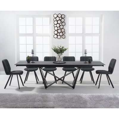 Brendan 180cm Grey Stone Dining Table with Dali Chairs