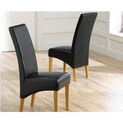 Cannes Grey Bonded Leather Dining Chairs (Pairs)