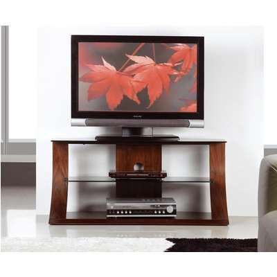 Curve 85cm Walnut TV Stand