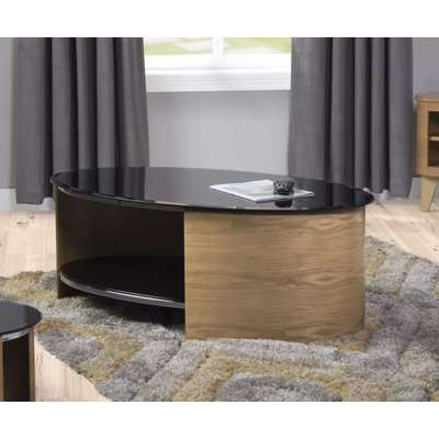 Curve Oak Oval Coffee Table