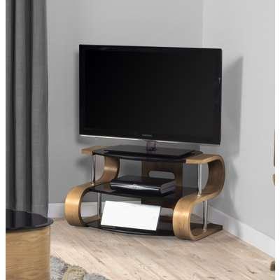 Curve Oak S TV Stand