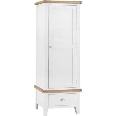 Ellen Oak and White Single Wardrobe