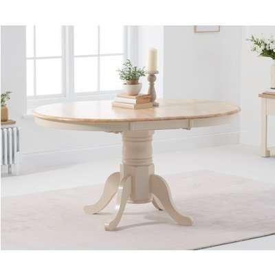Epsom Cream Pedestal Extending Dining Table