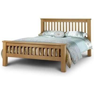 Haven Solid Oak High Foot End Super King Size Bed