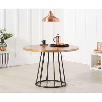 Highbury 110cm Ash and Veneer Round Dining Table