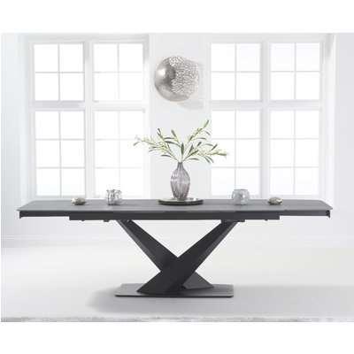 Joshua 180cm Extending Grey Stone Dining Table