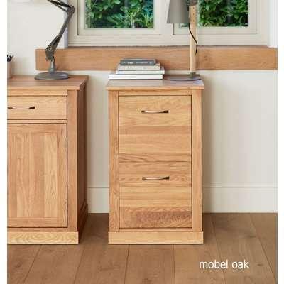 Mobel Solid Oak 2 Drawer Filing Cabinet